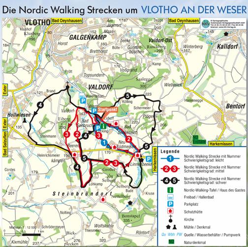 Karte Nordic Walking Park
