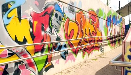 Graffiti Bahnhof
