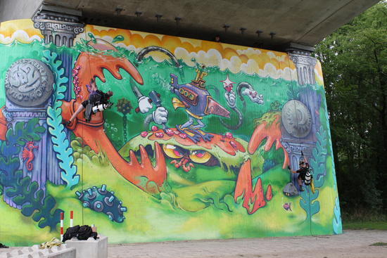 Graffiti Weserbrücke