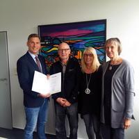 Bürgermeister Wilken, Peter Löhr, Regina Löhr, Monika Eickmeier (von links nach rechts)