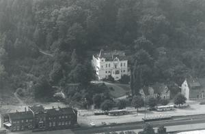 Villa Schöning und Bahnhof Ende der 60ziger Jahre