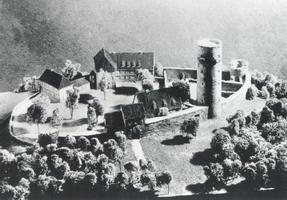 Burgmodell - angefertigt Ende 1930